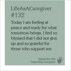 Life as a caregiver quote More