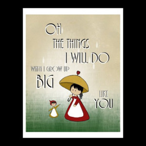 Kids Wall Art When I Grow Up Quotes and Sayings Print Nursery Girls ...