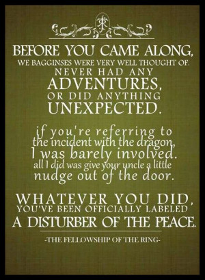 ... Bilbo's birthday party. The Fellowship of the Ring ~ J.R.R. Tolkien