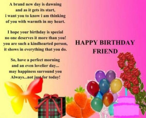 Happy Birthday Quotes for Friends Cute