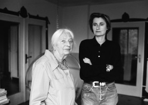 Elfriede Jelinek and her mother writer, Vienna/Austria 11/1987