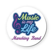 Marching Band Music Quote Round Coaster for