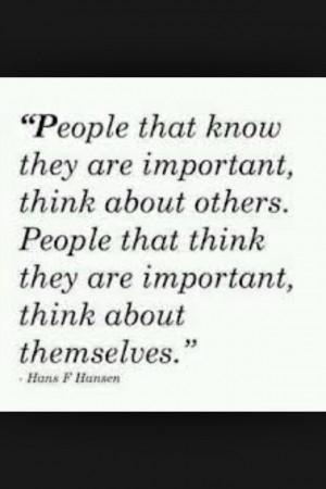 Selfish people suck