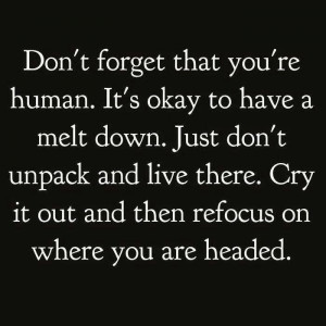 Don't unpack and live there!