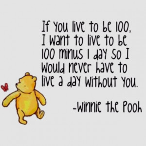 If you live to be 100, I want to live to be 100 minus 1 day so I would ...