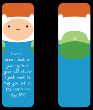 Adventure Time Finn the Human Bookmark by winged-bullet