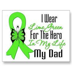 Lymphoma Cancer Ribbon My Hero My Dad More