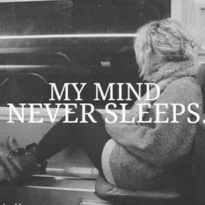 alone, black and white, girl, mind, photography, sleep, true