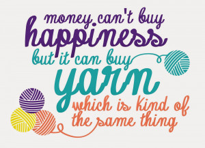 Yarn Happiness Mug, Tote, and Printable Quote