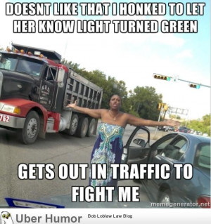 Just ran into this woman at the local red light
