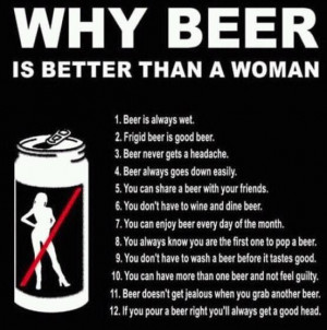 Thirsty Thursday's Funny Fact – Why beer is better than a woman