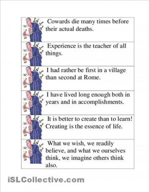 Famous Quotes From Julius Caesar Quiz