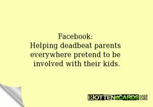 Deadbeat Dads Ecards Facebook: helping deadbeat