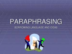 PARAPHRASE Quote