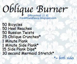 Oblique Workout Rayna Lerner Munn Courtney Baker Massaro tomorrow