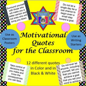 Motivational Classroom Quotes