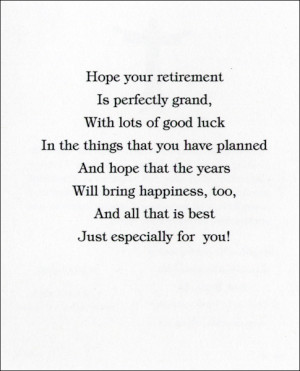 Awesome Funny Retirement Card Verses