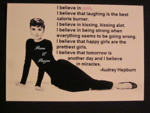 Audrey Hepburn Quote Magnet, Large Old Hollywood Magnet