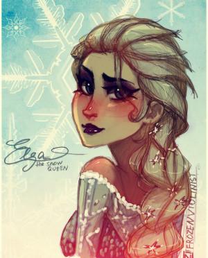 Frozen Movie Quotes Elsa Snow Queen Poster