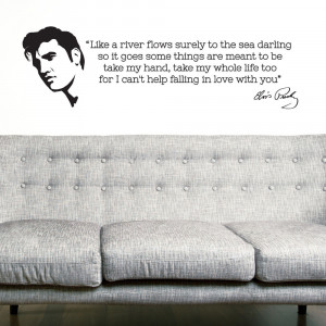 ELVIS PRESLEY life love Quote Lyrics WaLL Art Sticker Decal DIY Home ...