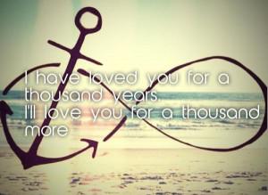 , always, anchor, beach, christina perri, couple, forever, infinity ...