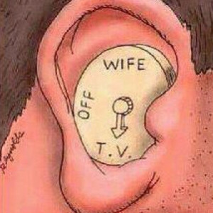 Selective hearing aids for men. My dad must have told my husband where ...