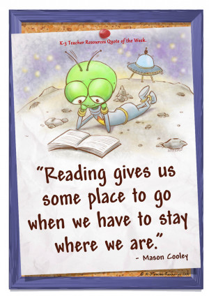 FREE Reading Gives Us a Place to Go Children's Quote