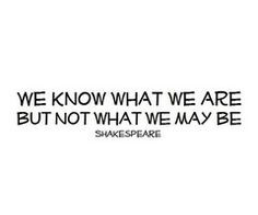 ... she has gone mad. And one of my favorite Shakespeare quotes ever. More