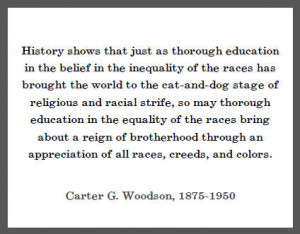 Carter G. Woodson Quote on Education