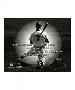 Love this Mickey Mantle I Pro Quote Canvas on #zulily! #zulilyfinds