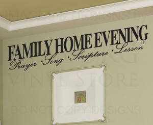 Wall-Decal-Sticker-Quote-Vinyl-Large-Family-Home-Evening-LDS-Mormon ...