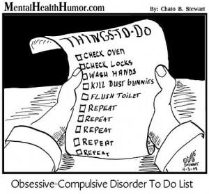 2008 Mental health Humor cartoon comic floss about OCD to do list ...