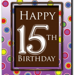 Happy 15th Birthday Chocola...