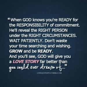 Wait patiently for God