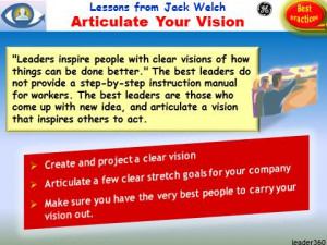 VISION, Visionary leader, Leadership Lessons from Jack Welch ...