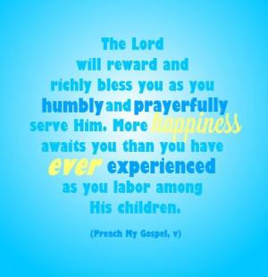 Missionary work #LDS quotes #Preach My Gospel PreparetoServe.com