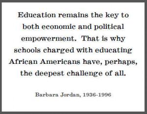 Barbara Jordan - Free Printable Quote on Education