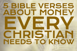 Bible Verses about Money Every Christian Should Know