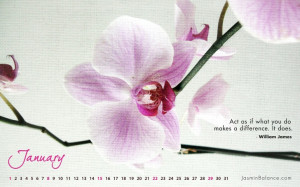 women flowers quotes calendar inspirational january motivation ...