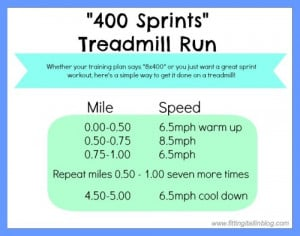 Have you ever done a speed run with 400s, 800s, etc?