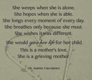 mother grieving a death of her child quotes