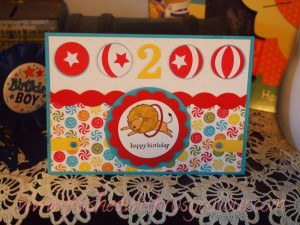 delightful birthday card handmade for a 2 year old boy