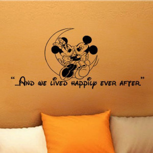 Mickey Mouse Minnie Mouse And we lived happily ever by kisvinyl, $18 ...