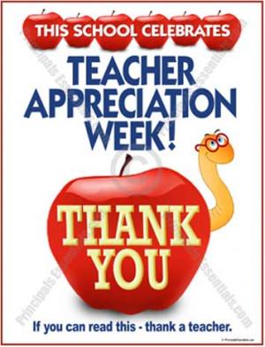 Appreciation Poster for Teachers