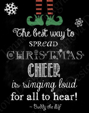 ... 11x14 Elf Christmas Movie Quote Printable by JennovaDesigns, $8.50