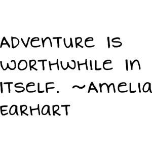 Amelia Earhart Quote(: