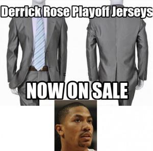 Derrick Rose Playoff Jerseys