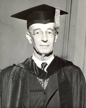 Vannevar Bush at the inauguration of Lee A. DuBridge as president of ...