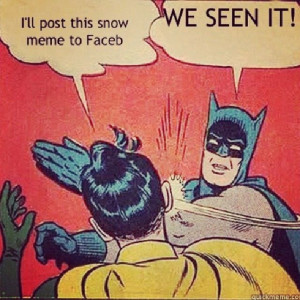 Batman and Robin: it's snowing .. Loll