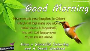 Saturday Good Morning Quotations in English, English Nice Good Morning ...